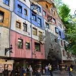 Immeuble de l'architecte Hunderwasser à Vienne