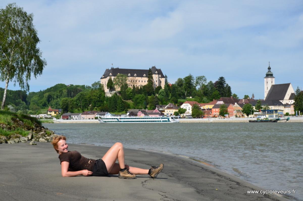 Plage sur le Danube, ça roule !