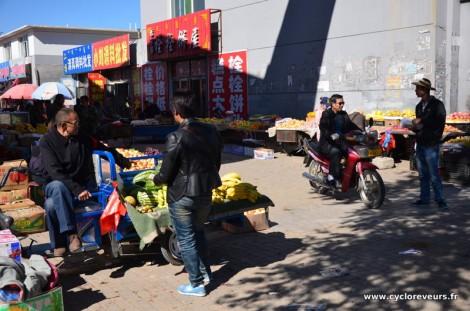 Un marché dans la ville chinoise de Erenhot