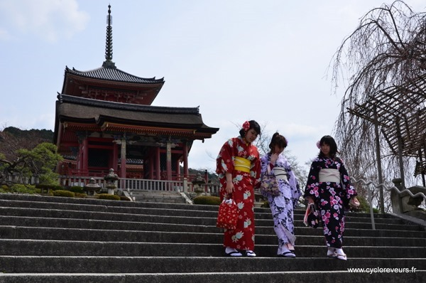 temple et kimono
