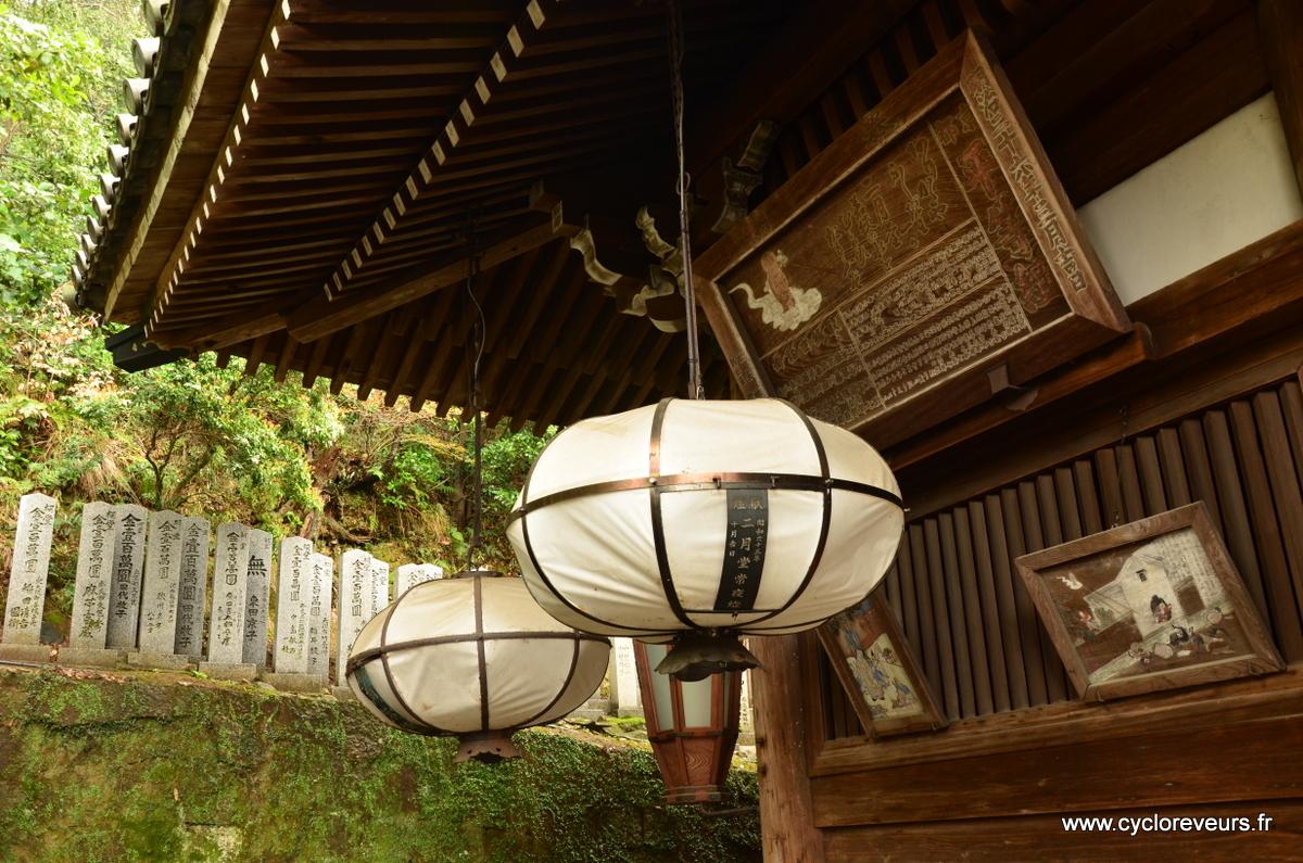 Les lanternes qui entourent le temple