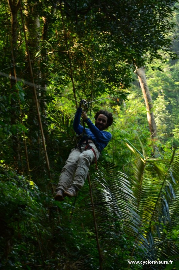 Tyrolienne - Gibbon experience - Huay Xay - Bokeo - Laos