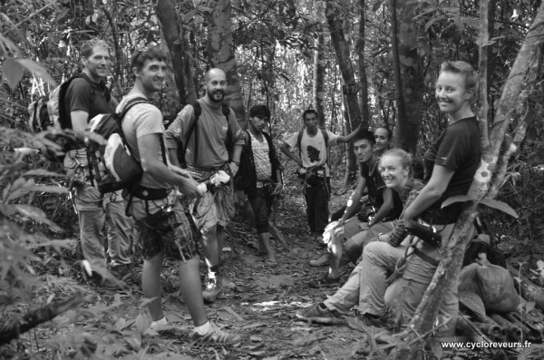 Groupe de trek - Gibbon experience - Huay Xay - Bokeo - Laos