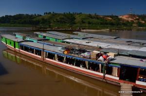 Quai des slow boats à Huay Xai