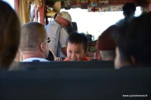 Intérieur du slow boat - Laos