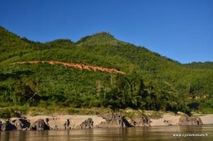 Paysage du mékong entre Huay Xai et Luang Prabang