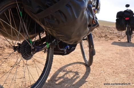 Le vélo avec sa modif