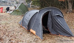 Neige sur la tente