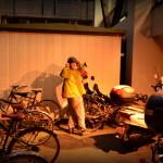 Arrivée au parking vélo du Hombu Dojo, de nuit !