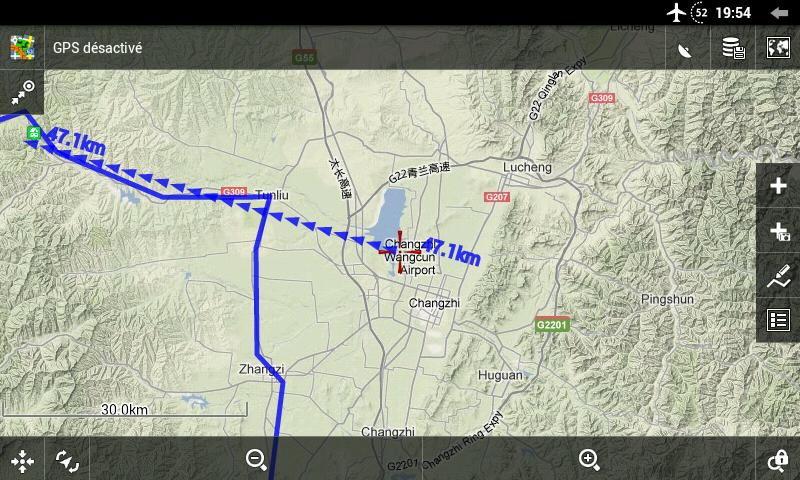 Distance à un point à vol d'oiseau : donne une estimation un peu plus précise qu'avec l'échelle seulement.