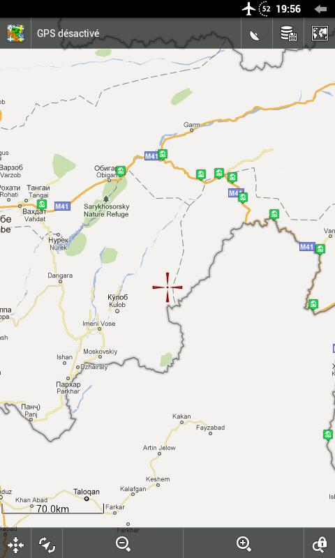 Zoom sur le début de la M41 (carte Google Classique)